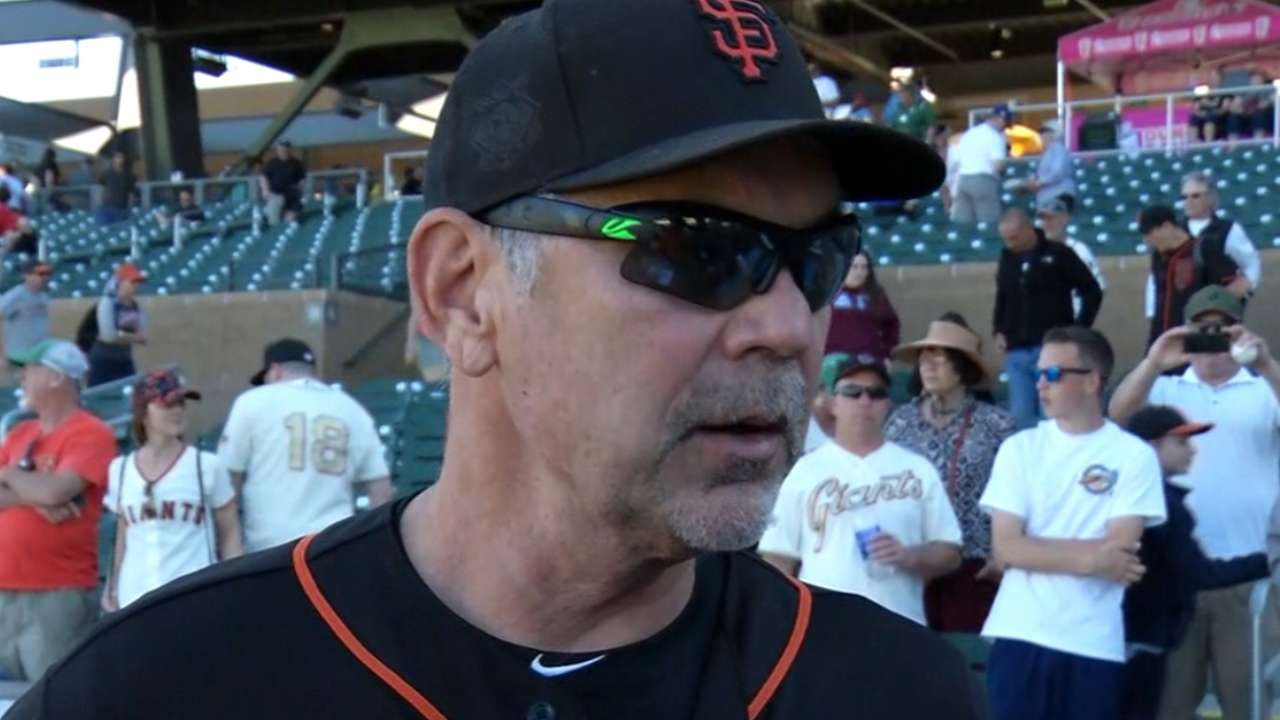 For Cain, Bochy has modest hopes and plan B