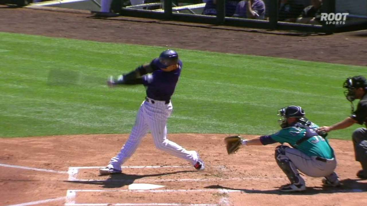 CarGo drives in three runs vs. Mariners