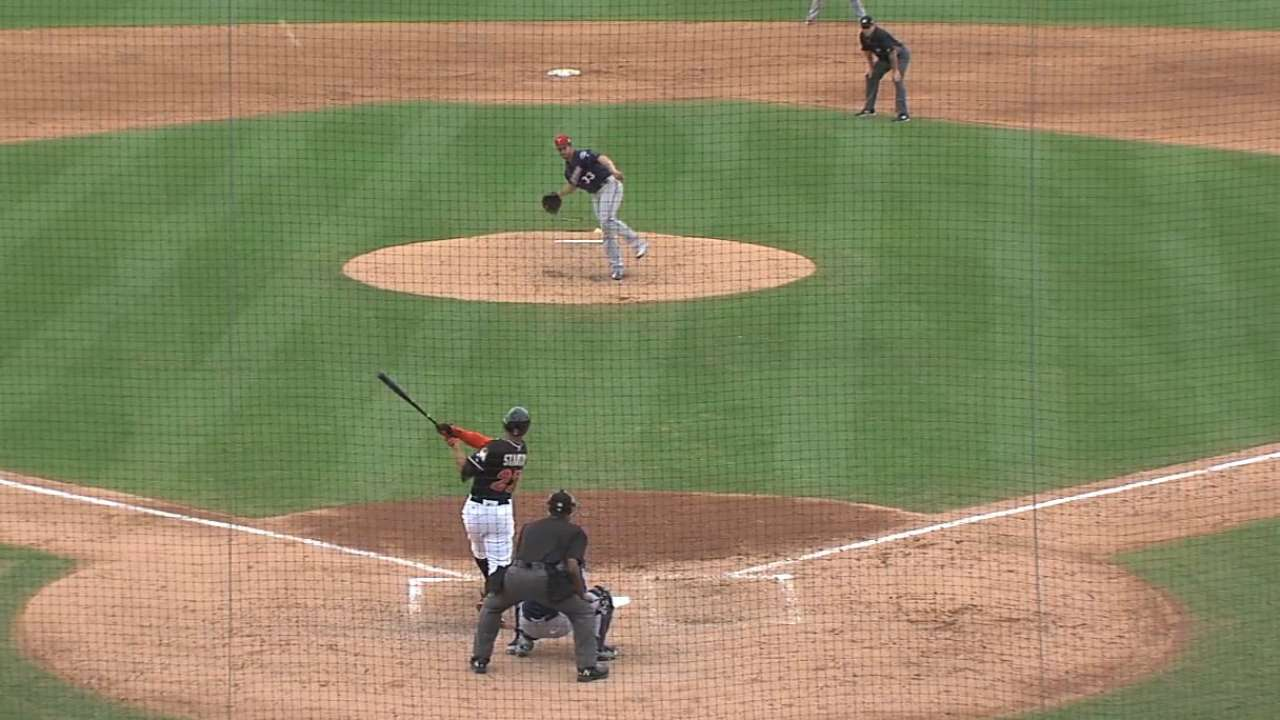 Stanton's homer clears building