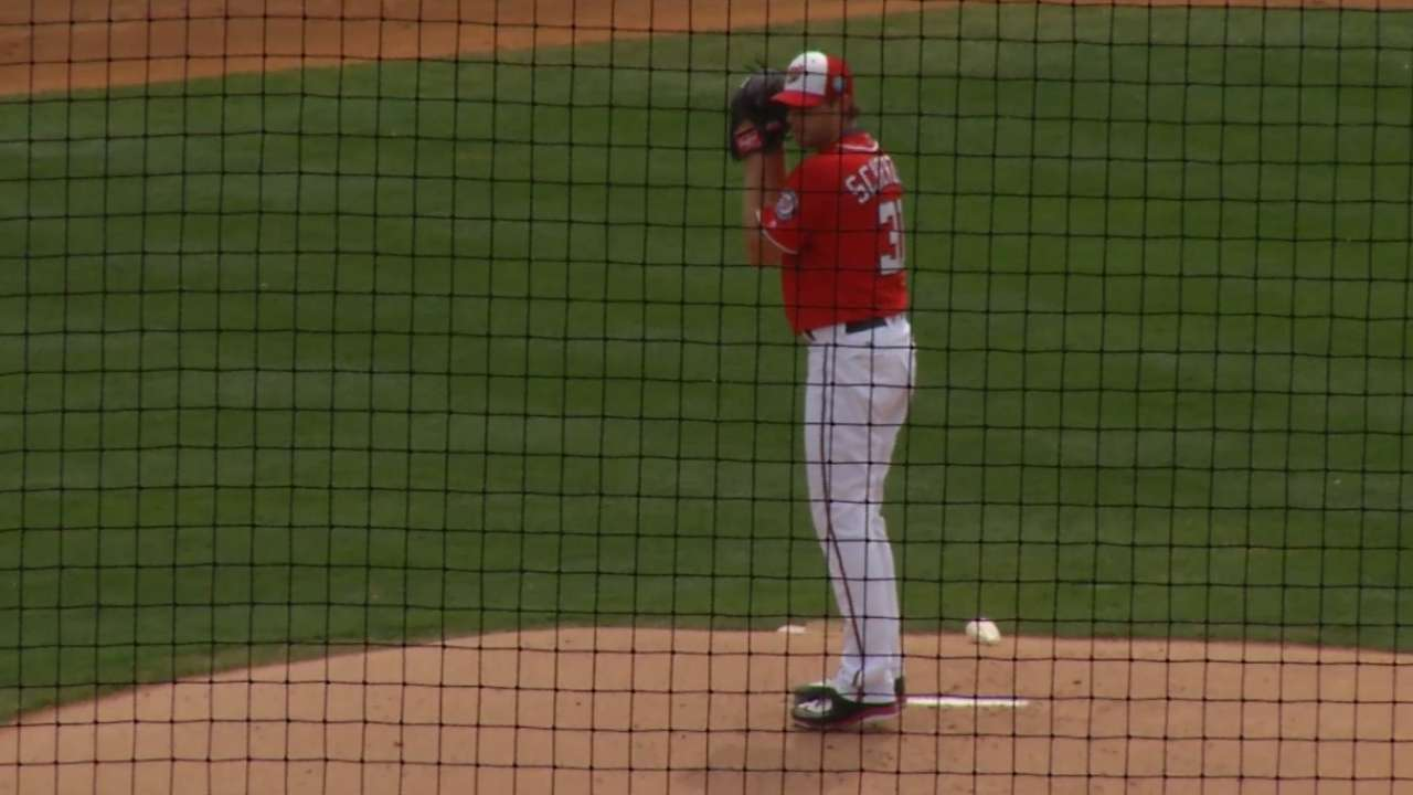Scherzer on striking out nine