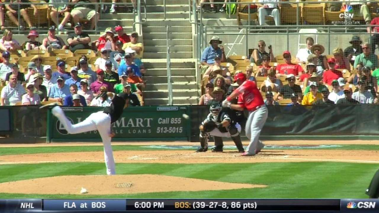 Tested by Trout, Sale enjoys getting full start in