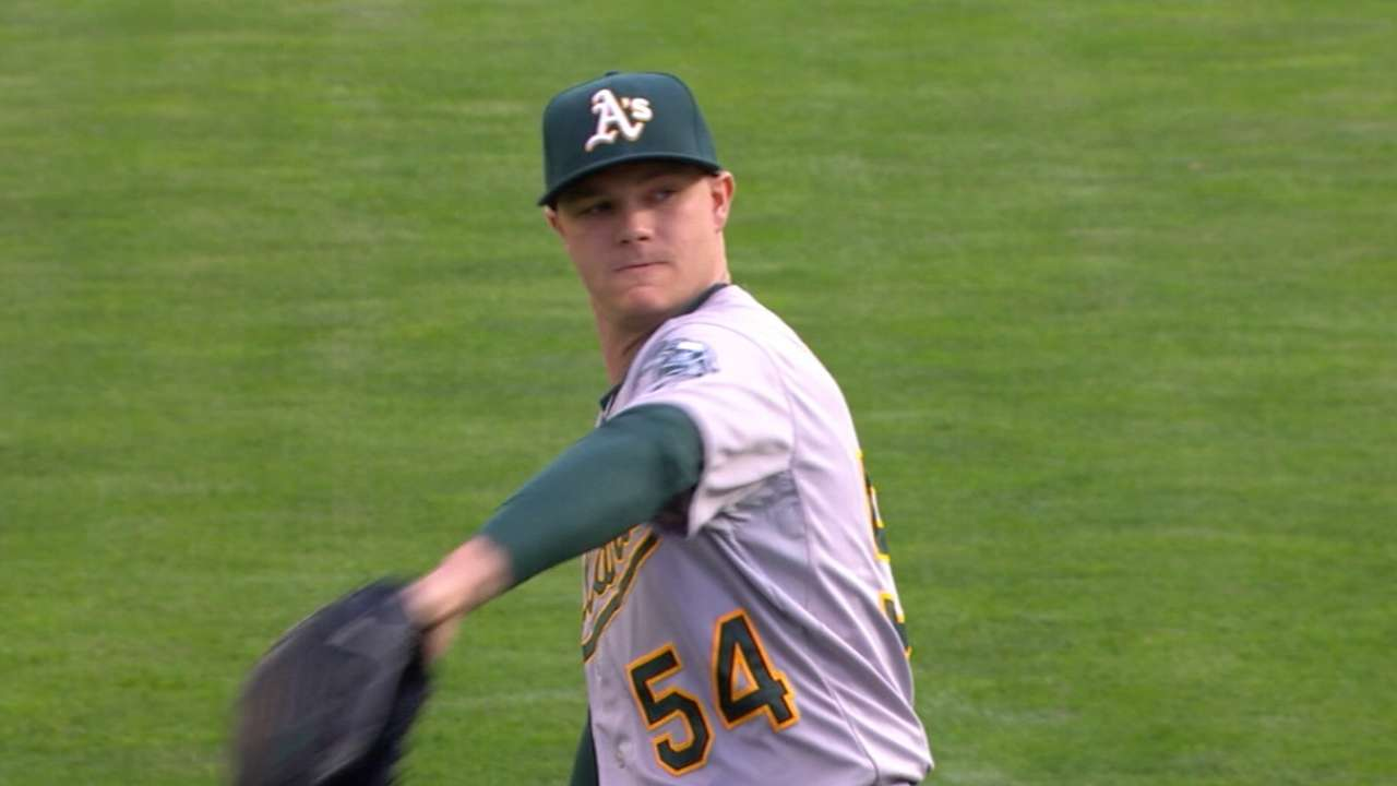 A's Gray gets OD nod after spring debut