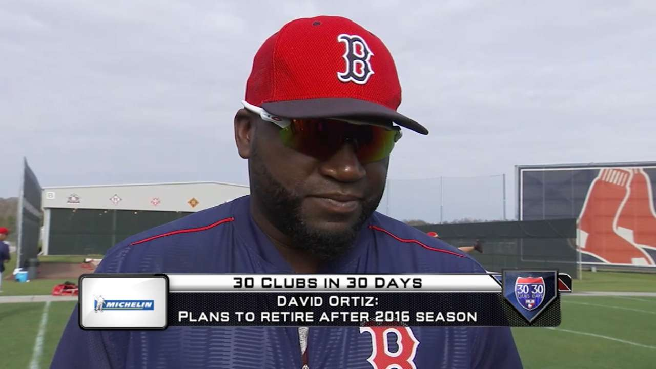 Red Sox to honor Papi at final spring home game