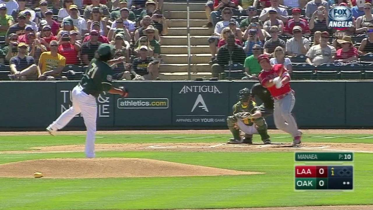 Trout homers, drives in two as Angels beat A's