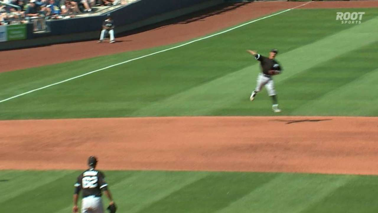 Rollins the fave at short, but Saladino in picture