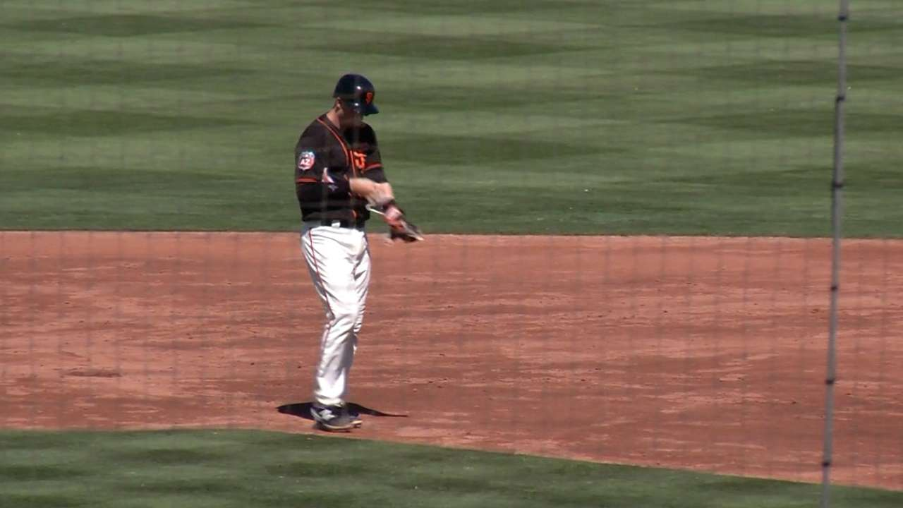Brown's RBI double
