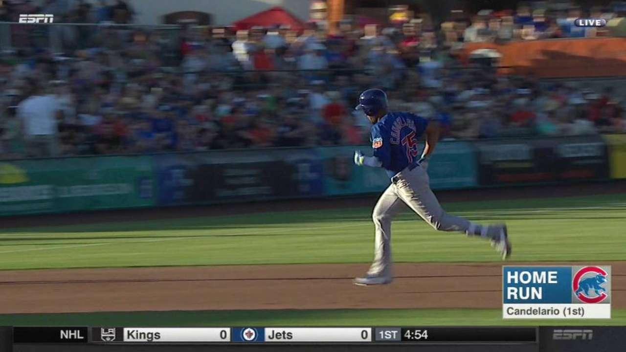 Candelario's solo home run