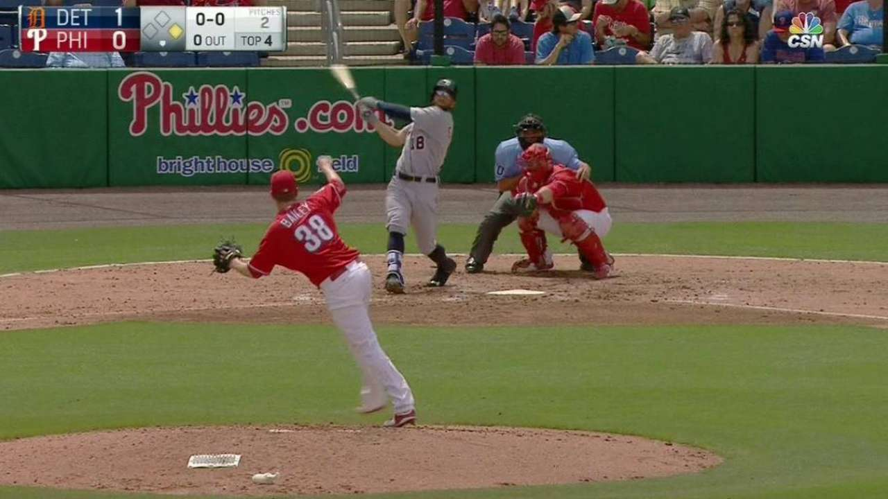 'Full-speed ahead' Collins now calmer at plate