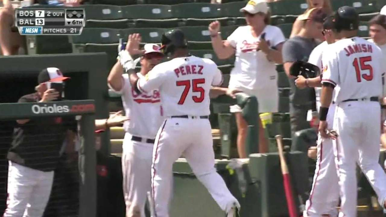 Perez's three-run homer