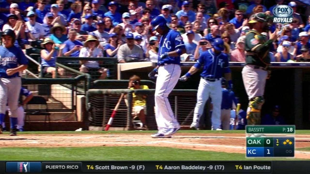 Hosmer walks with bases loaded