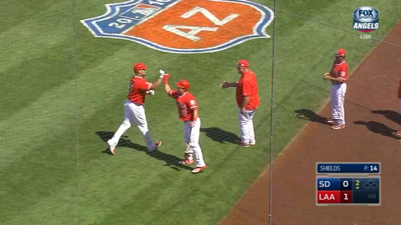 Pujols, Calhoun go back-to-back in Angels win