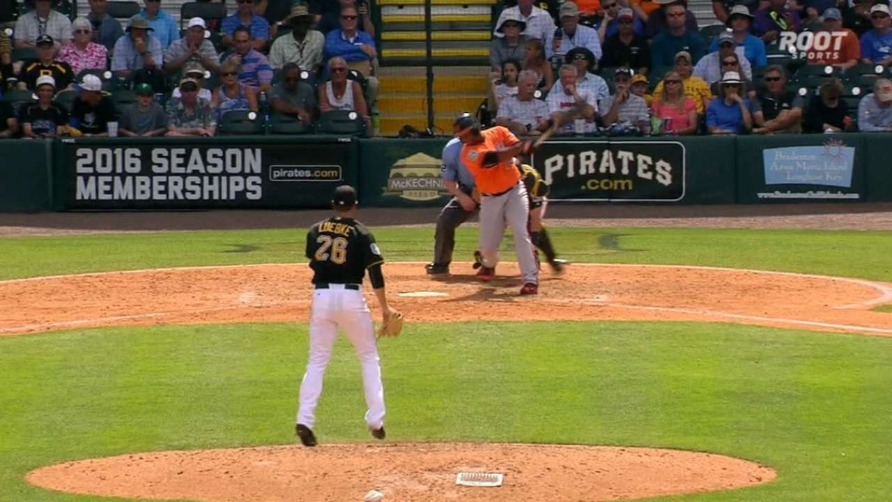 Luebke strikes out two in relief