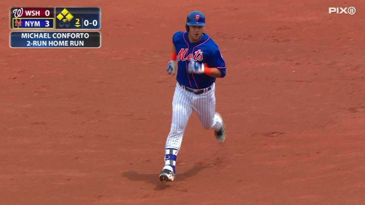 Wright, Conforto power Matz, Mets vs. Nats