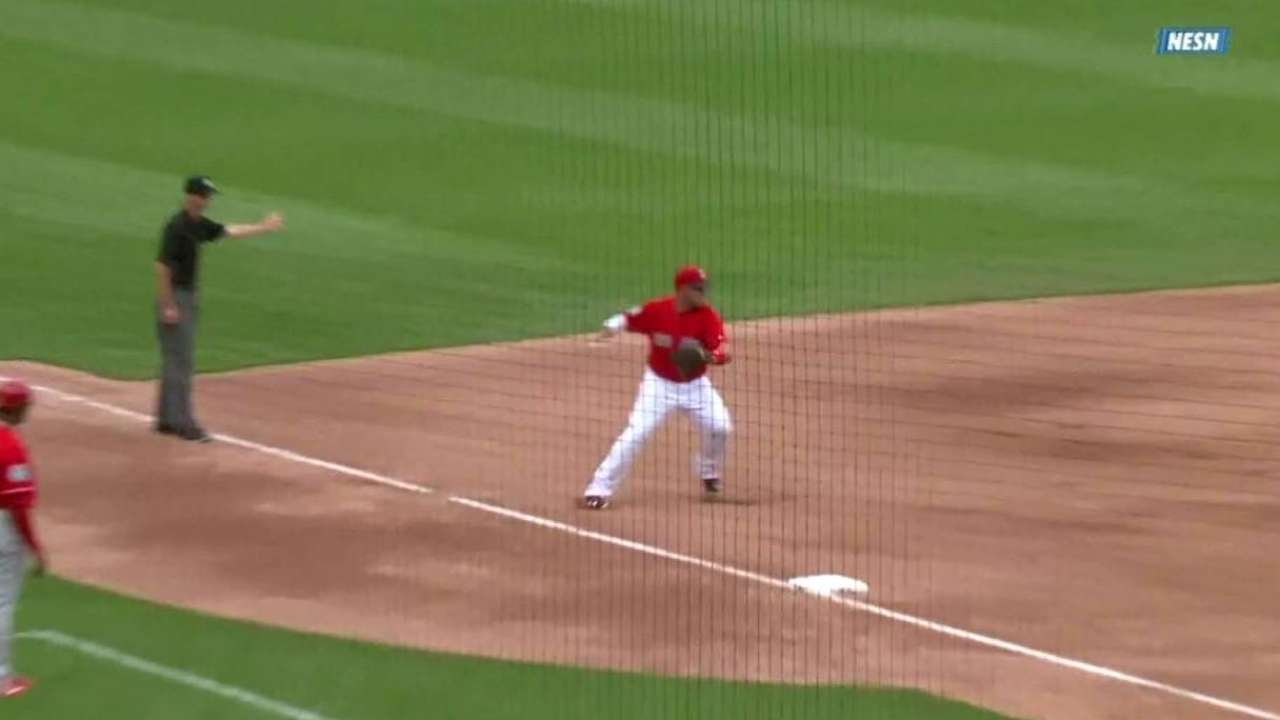 Shaw starts a double play