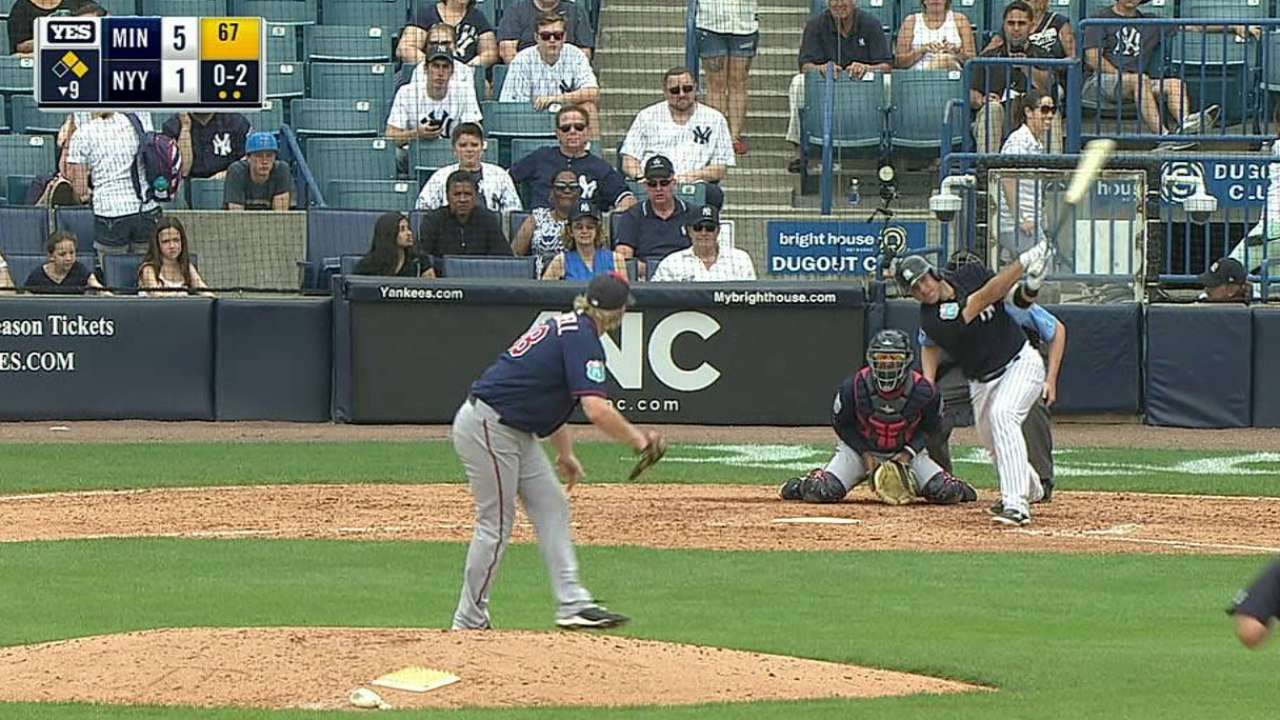 Romine's RBI single