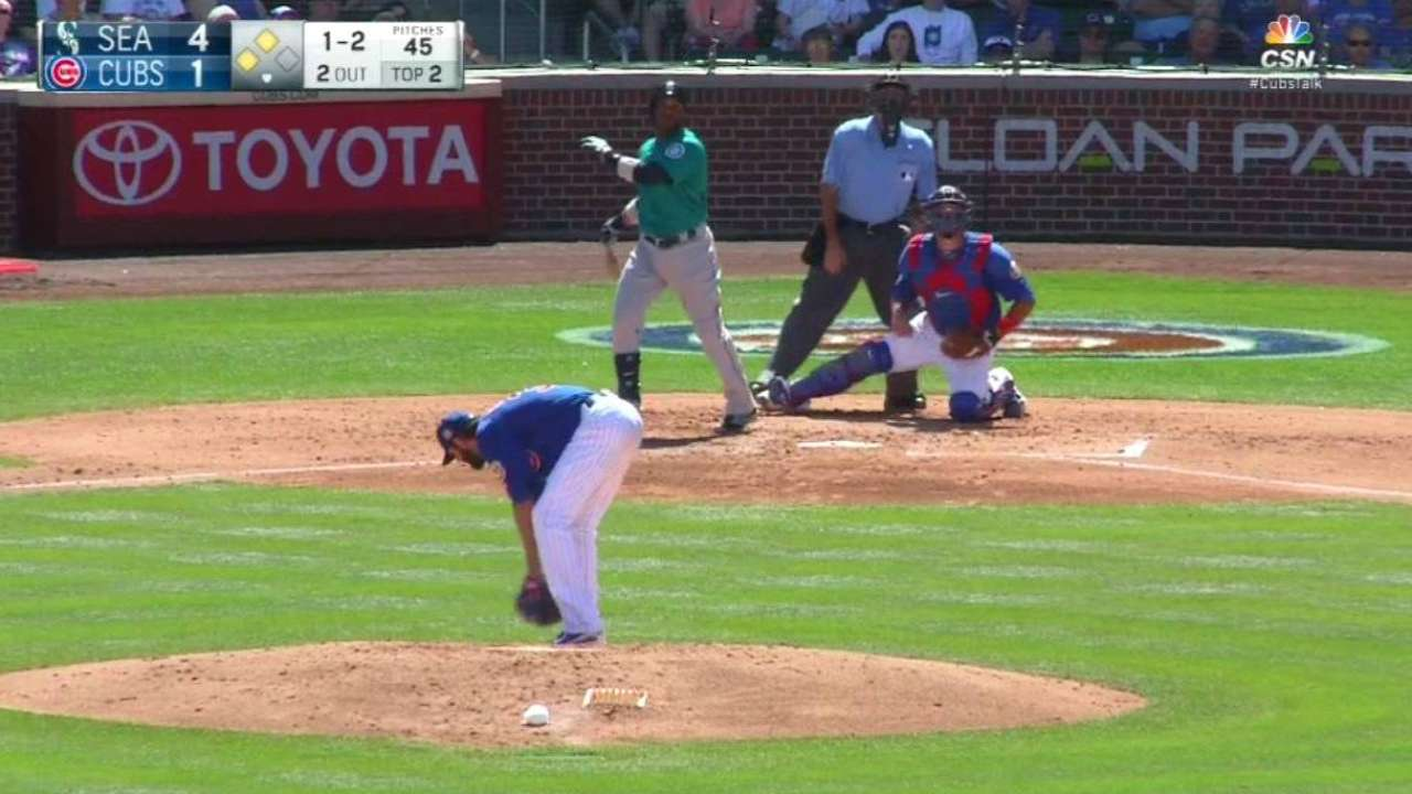 Cano's 3 HRs help Mariners down Cubs