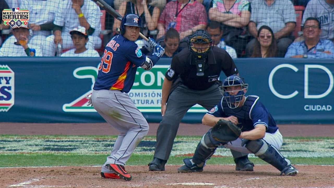 Astros concluyen serie en México con derrota ante Padres
