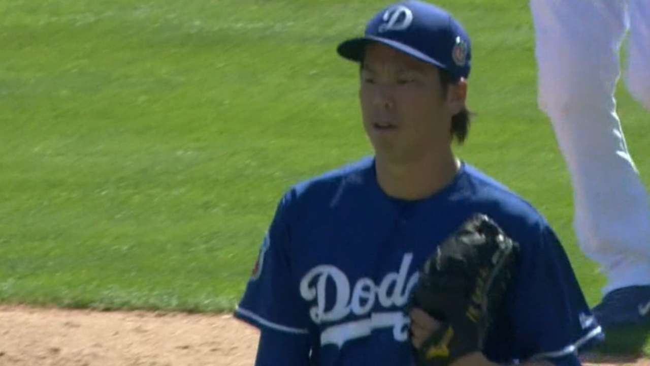 Maeda making 'seamless' transition with Dodgers