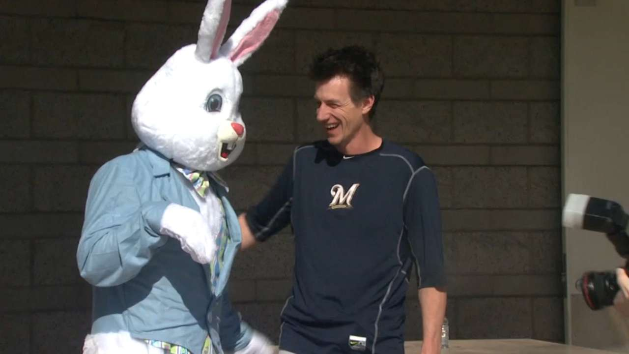 Bunny Ball! Gennett dresses part, then homers twice