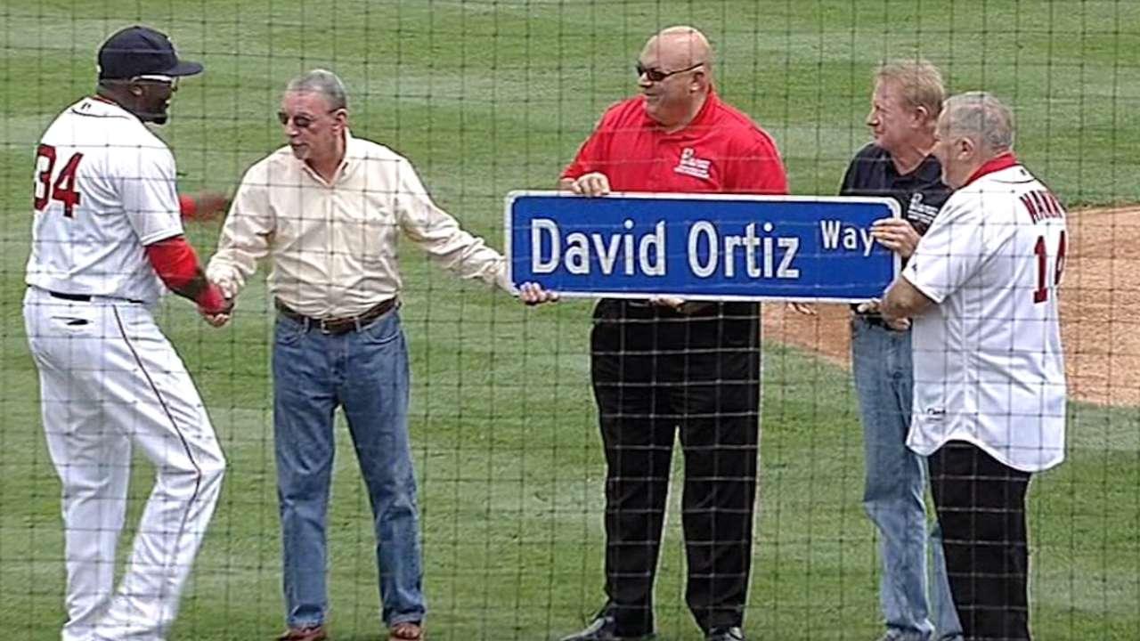 Red Sox honor Ortiz pregame