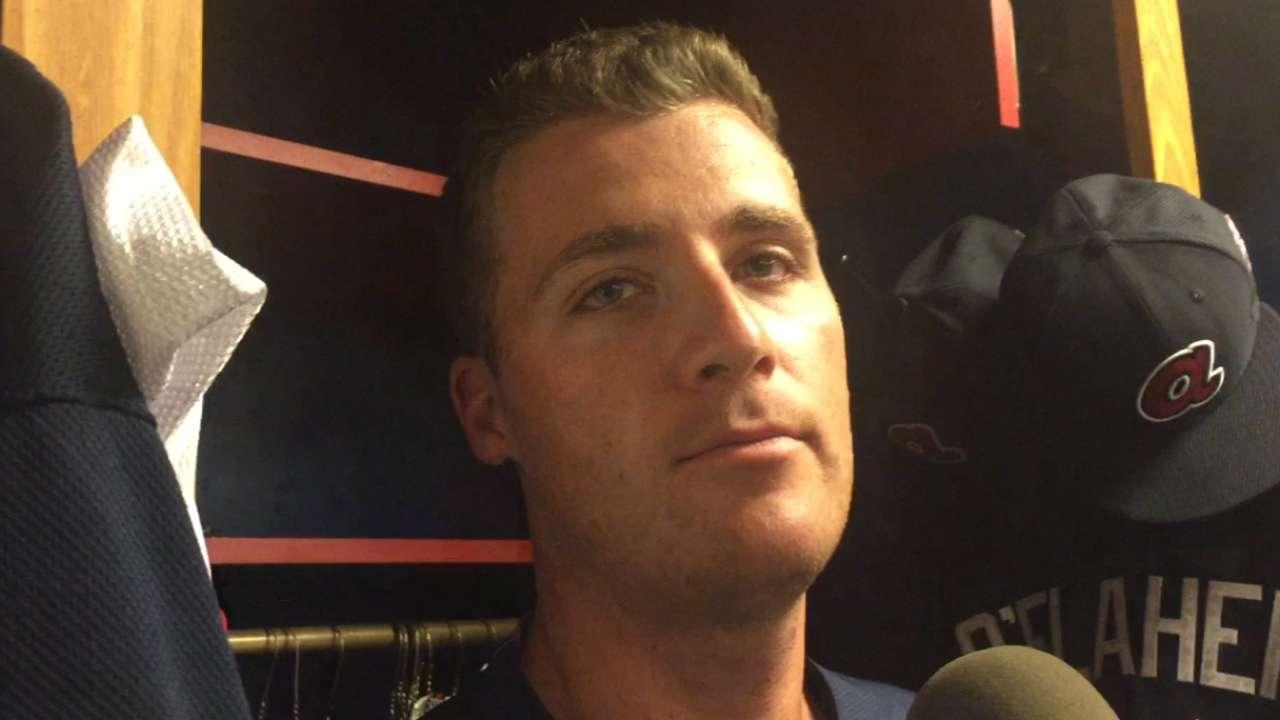 Braves, O'Flaherty equally happy to reunite