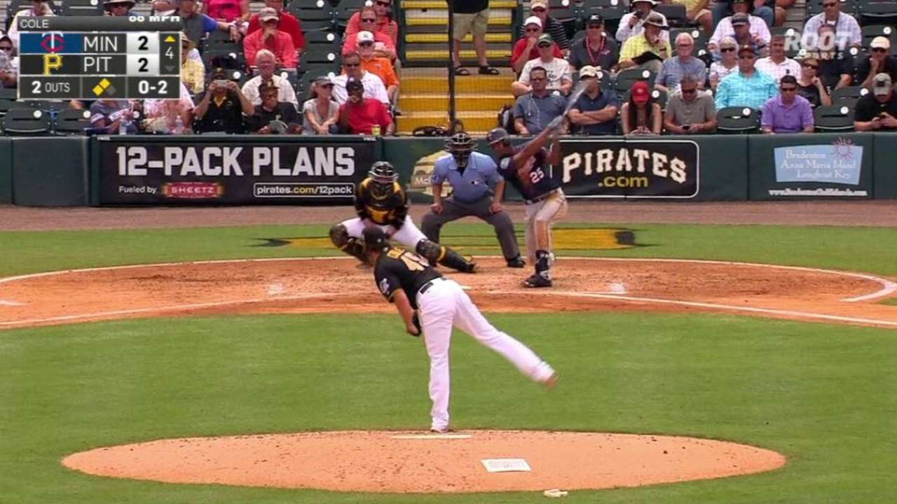 Twins come back top Bucs in Cole's second tuneup