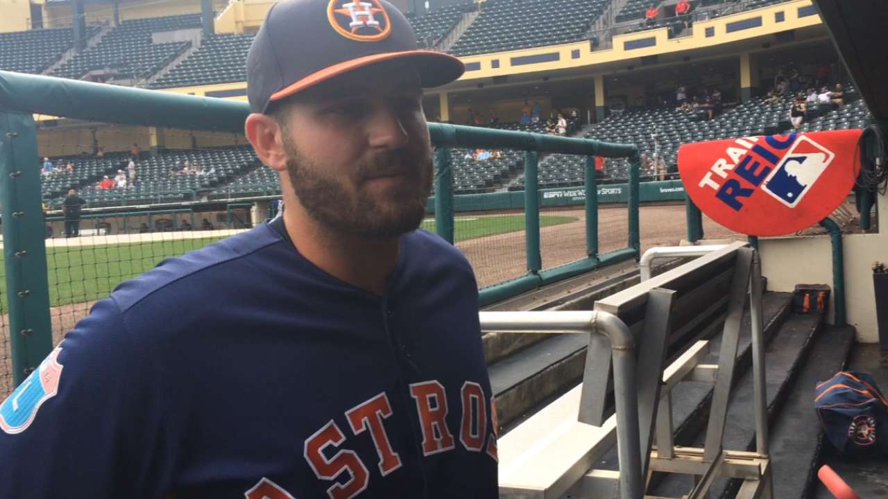White on making Astros' roster