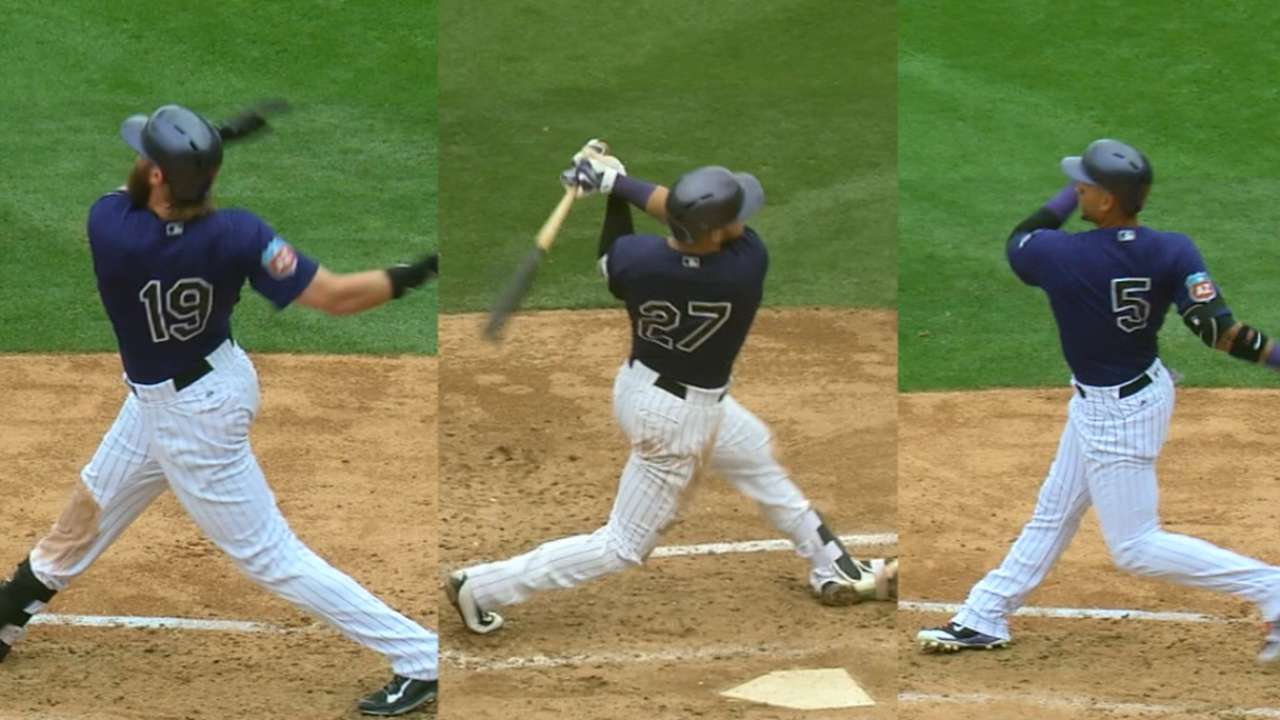 Must C: Rox hit homer trifecta