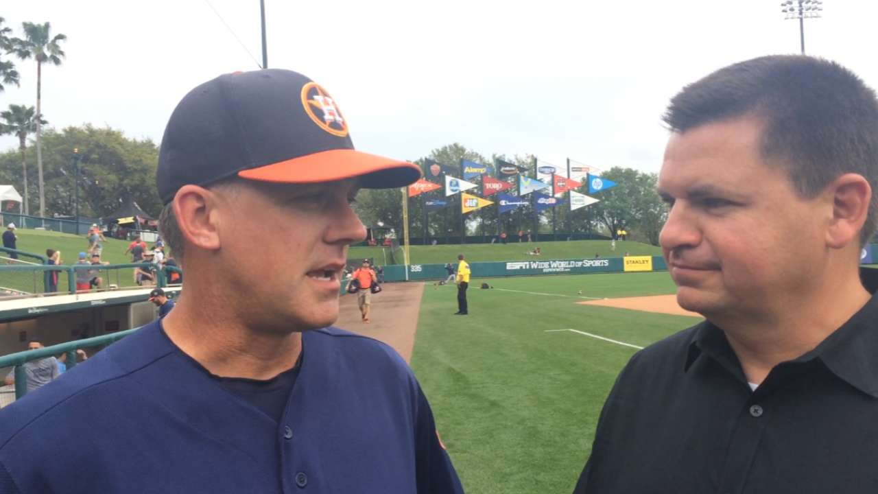 Hinch excited to see Astros' sweet '16