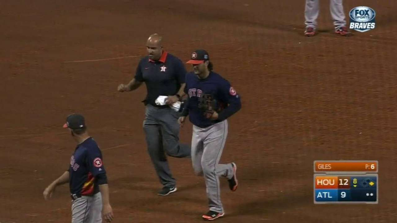 Marisnick exits with mild ankle sprain