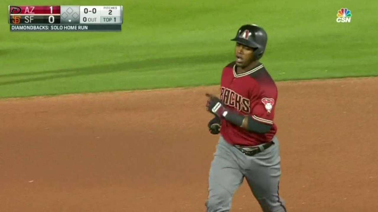Segura's leadoff homer