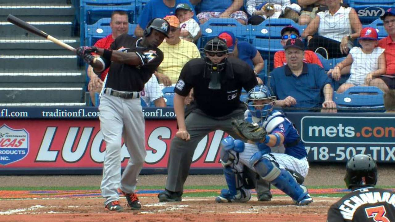 Dee's RBI 1B holds up as Marlins 2-hit Mets