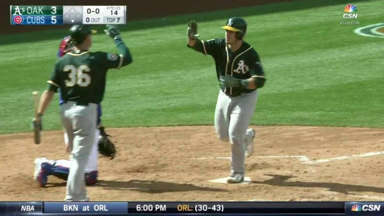 Phegley's solo home run