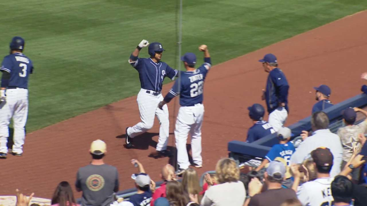 Jay hits two of Padres' four homers vs. Dodgers