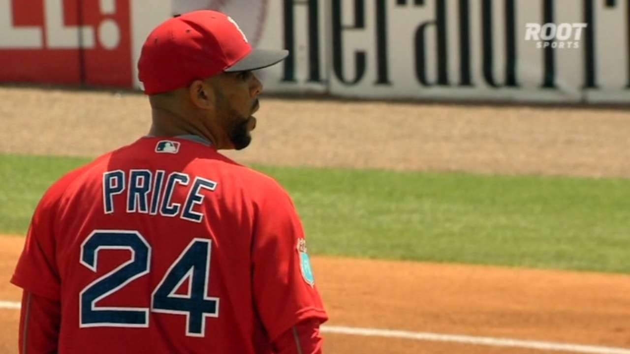 Price, Young lead way for Sox in tie with Bucs