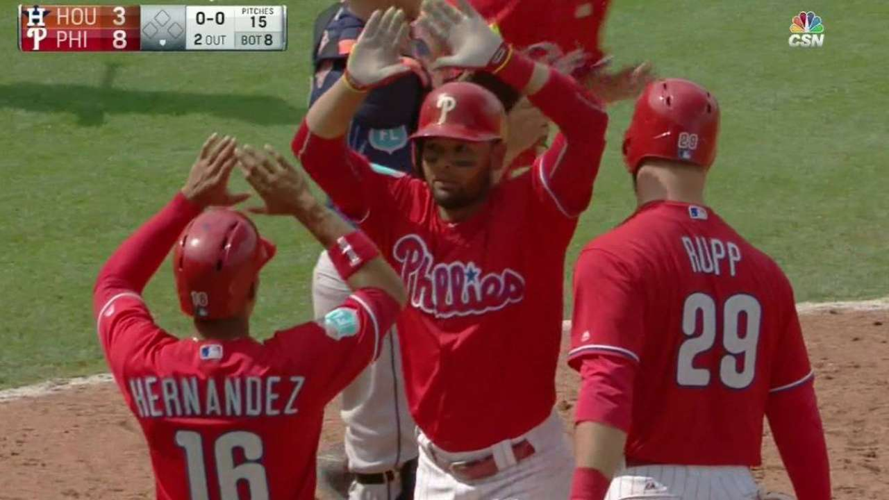 Phillies come from behind with eight in eighth