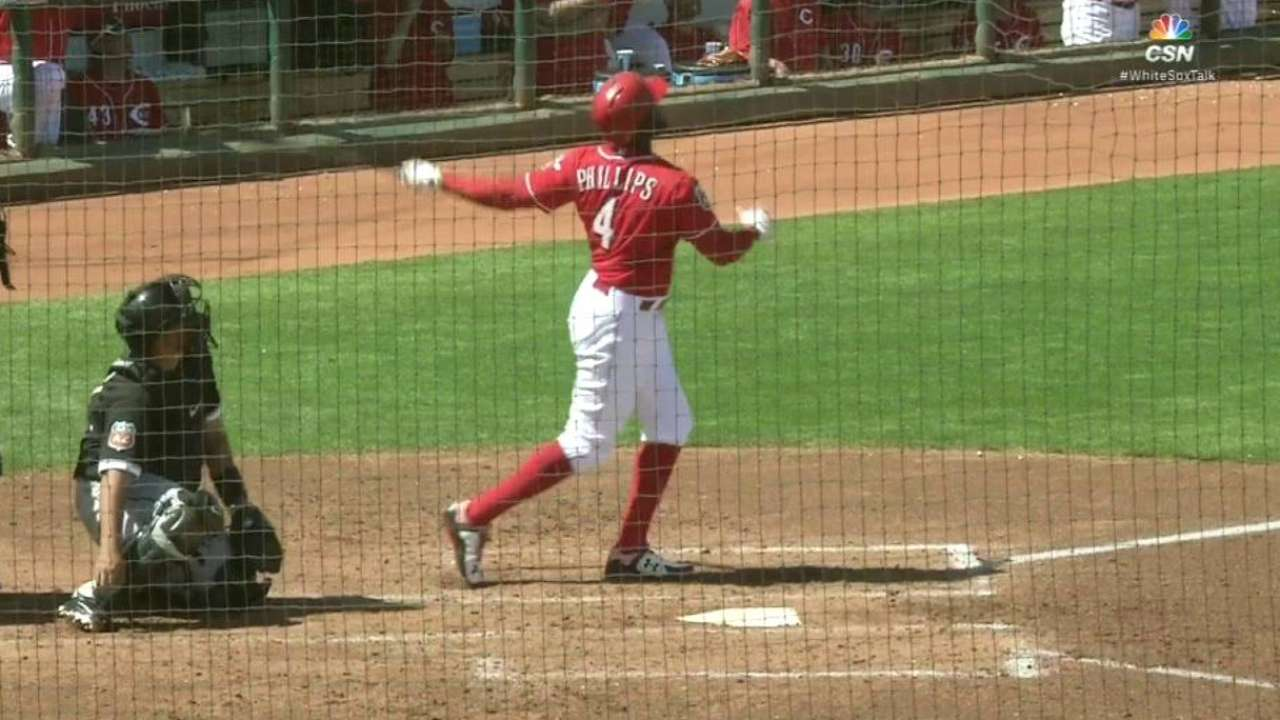 Votto, Phillips star as Reds double up White Sox