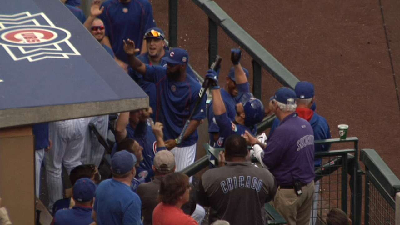 Lester's two-run home run