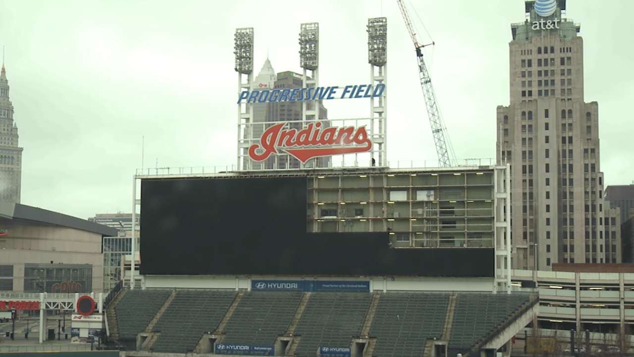 Indians unveil Progressive Field renovations