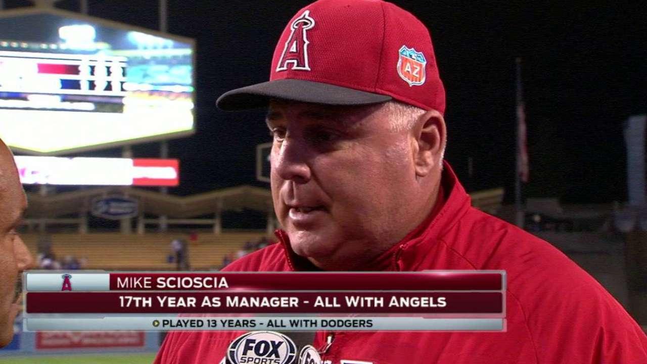 Scioscia on Angels' win