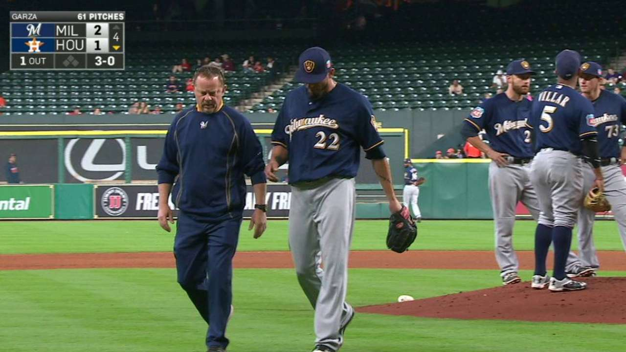 Garza on schedule for first start after scare