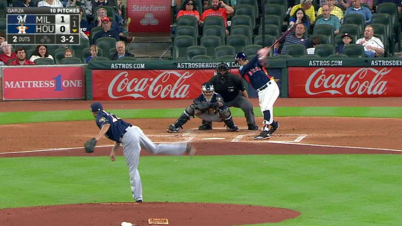 Garza gets Correa swinging
