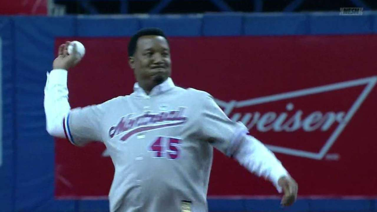 Pedro thrilled to deliver another pitch in Montreal