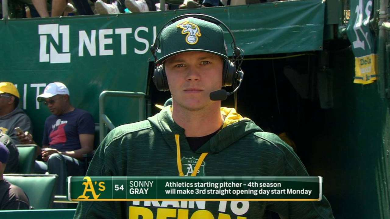 Gray on starting on Opening Day
