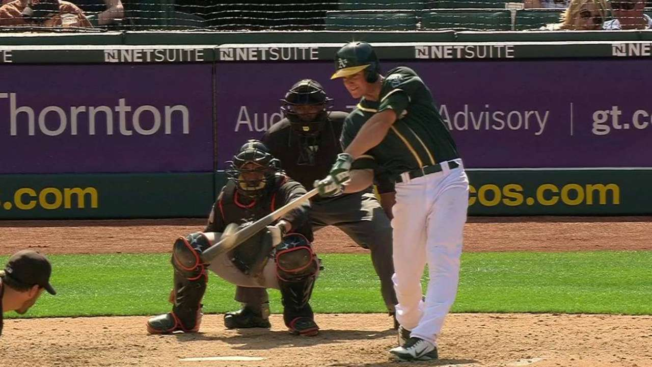 Chapman's solo home run