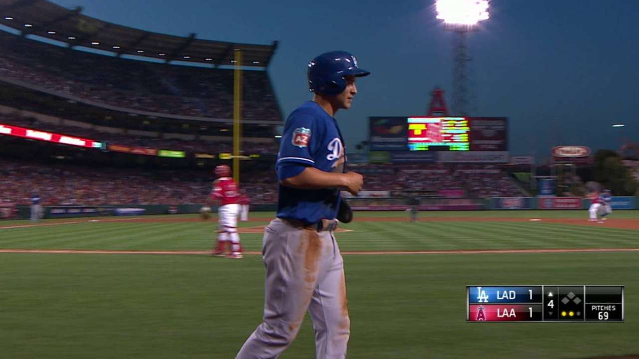 Seager scores on double play