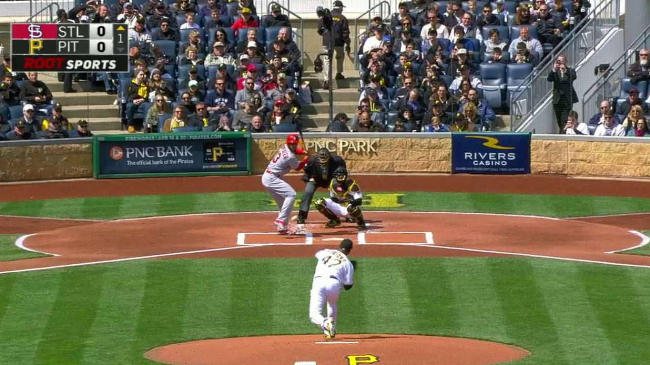Pirates, Cardinals heat up a frigid Opening Day