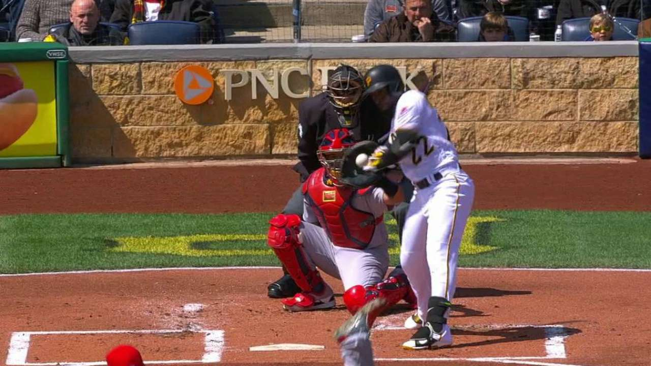 Cutch hit by a pitch