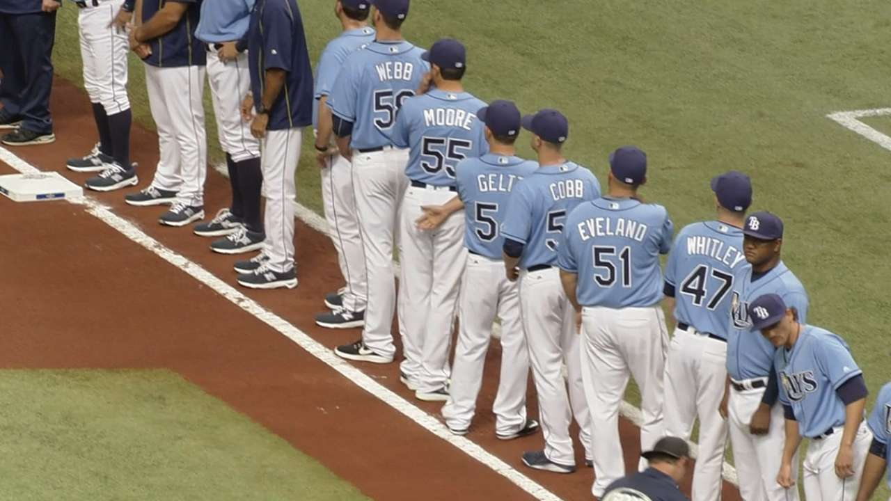Enthusiastic crowd on hand for Rays' opener