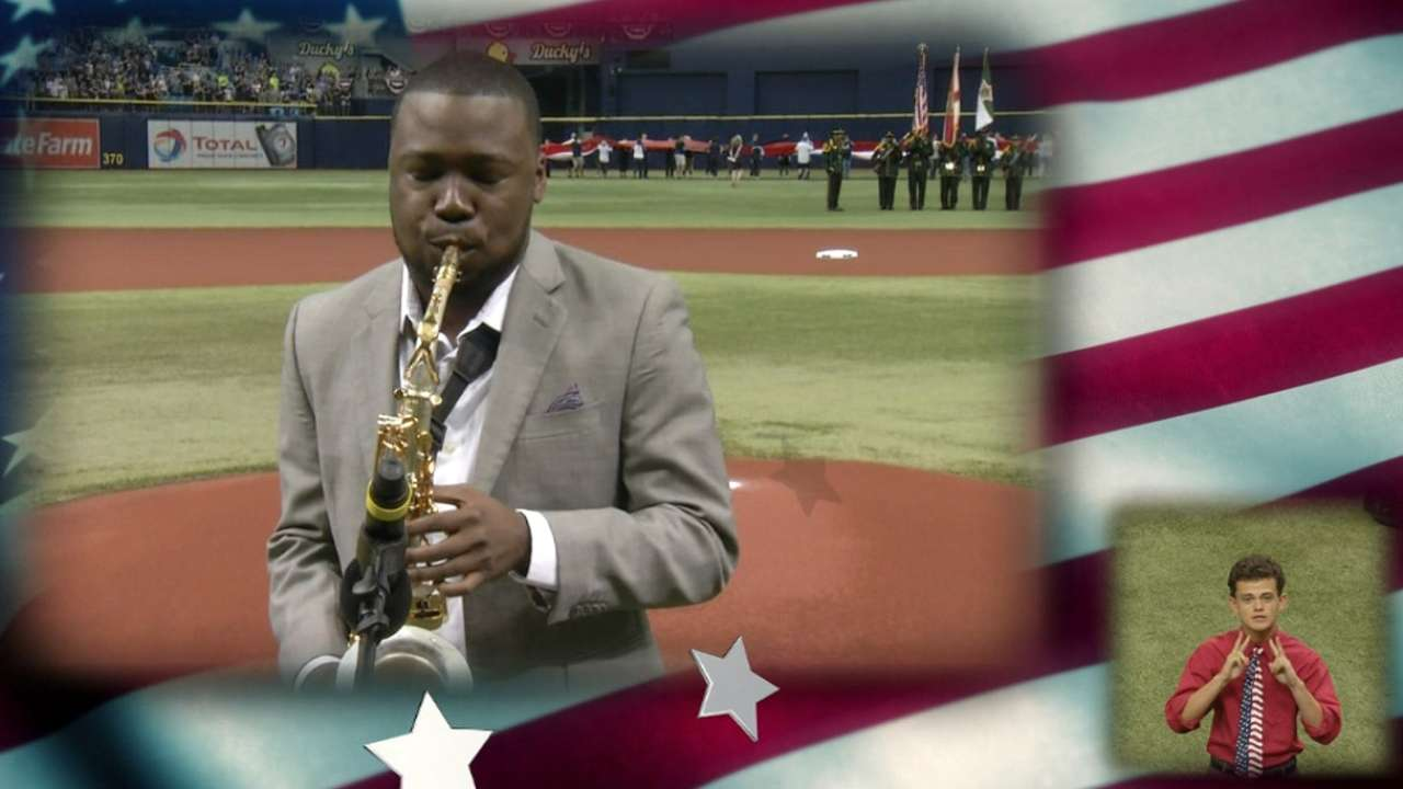 BK Jackson performs anthem
